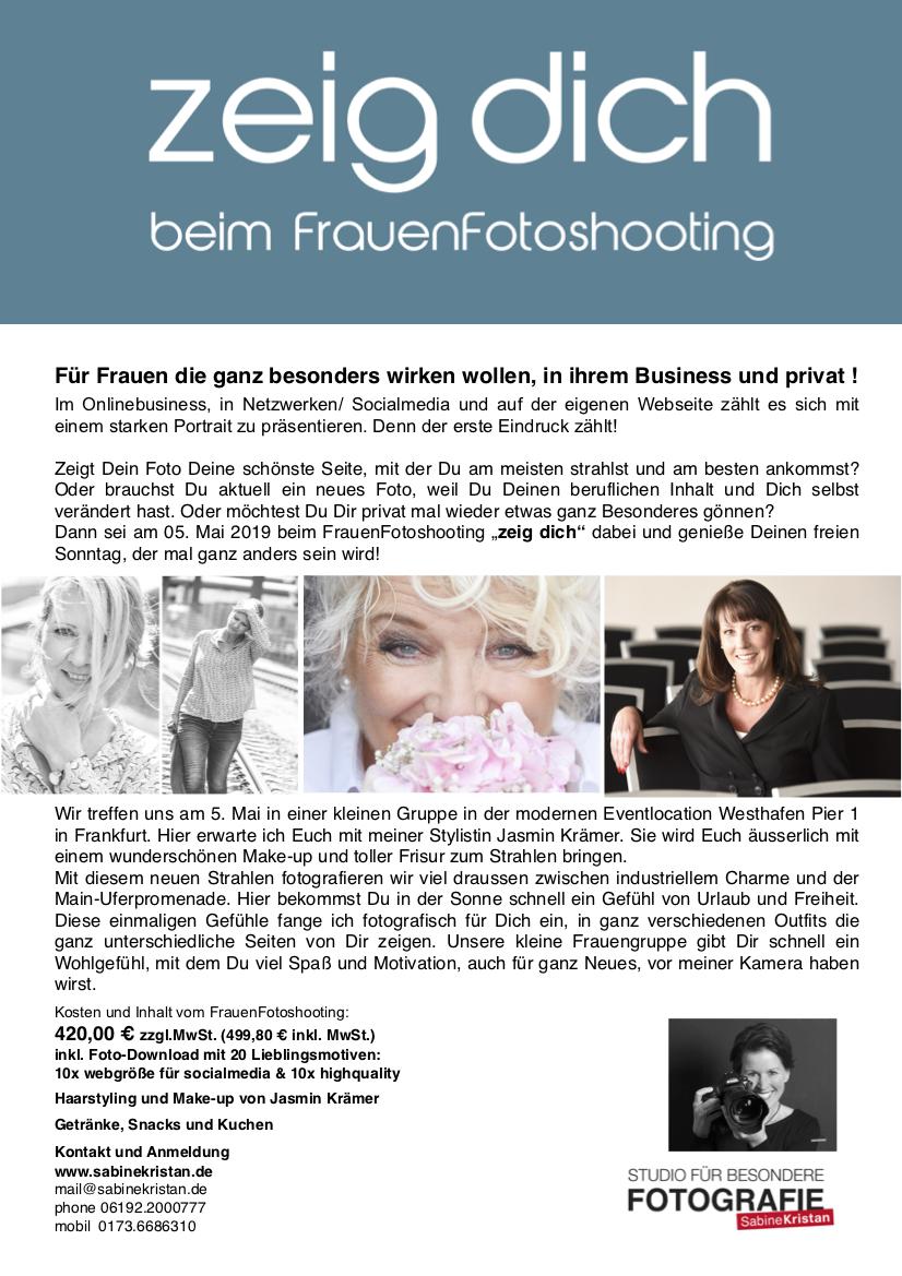 zeig dich FrauenFotoshhoting im Mai 2019